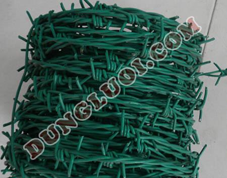 Dây thép gai bọc nhựa uPVC chống trộm chất lượng